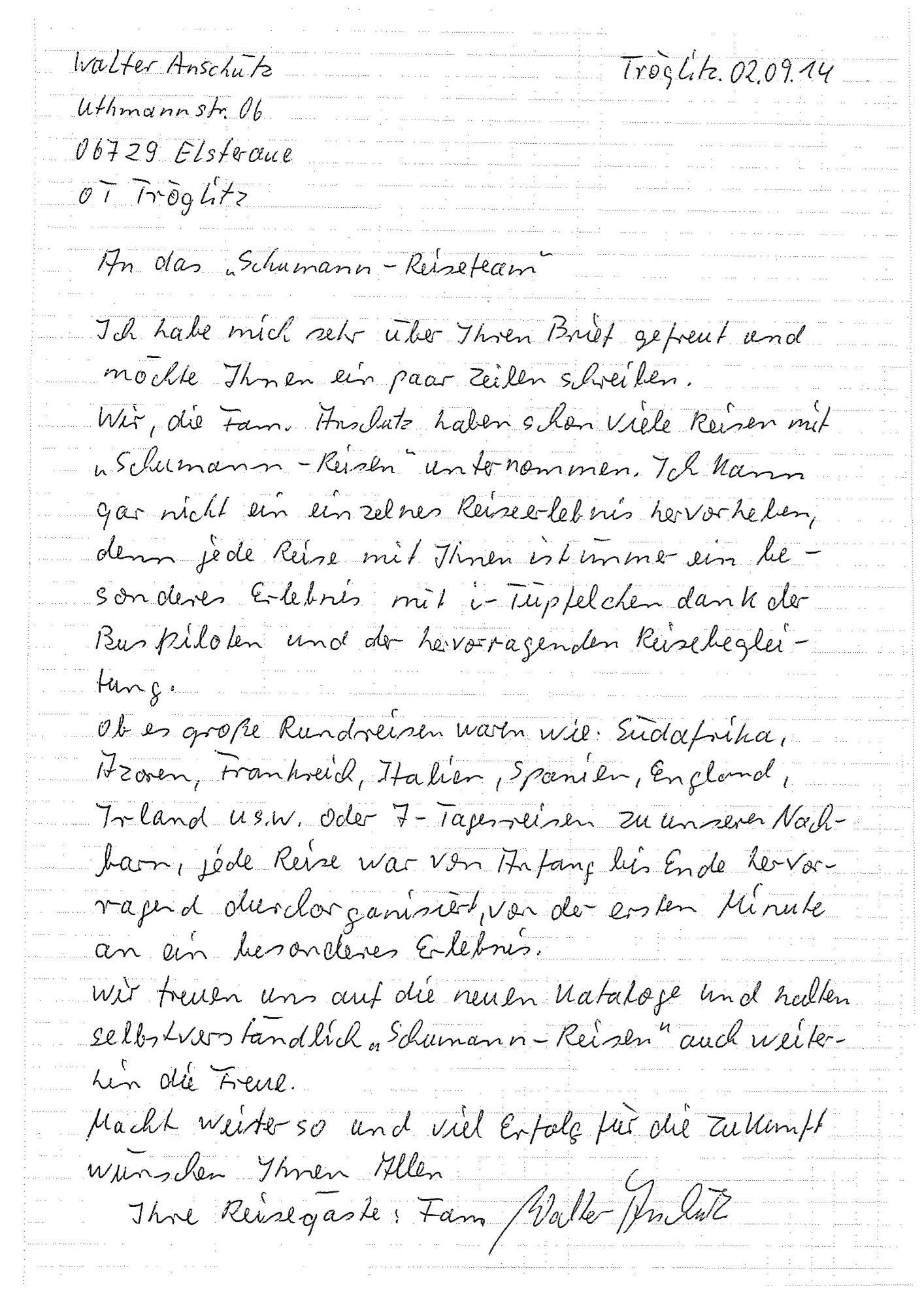 Geschichten Die Der Urlaub Schreibt Schumann Reisen